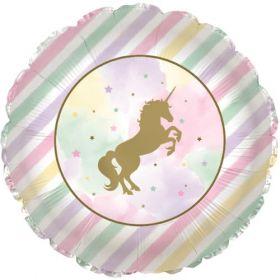 18 inch Unicorn Sparkle Foil Mylar Circle Balloon