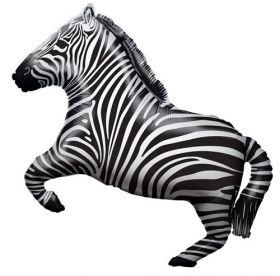 28 inch Zebra Shape Foil Mylar Balloon