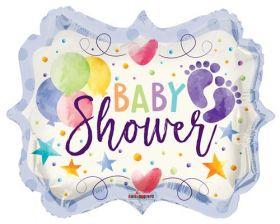 18 inch Baby Shower Sign Shape Foil Mylar Balloon