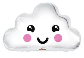 20 inch Smiley Cloud Shape Foil Mylar Balloon