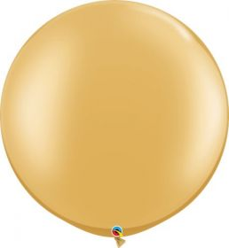 30 inch Qualatex Gold Latex Balloons - 2 count