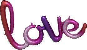 31 inch Anagram Ombre Love Phrase Shape Foil Mylar Balloon - AIR FILL - Pkg