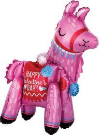 22 inch Anagram Standing Valentine Llama Foil Balloon - Pkg