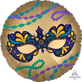 18 inch Anagram Satin Night Disguise Mask Foil Balloon - Pkg