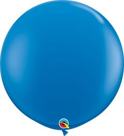 36 inch Qualatex Dark Blue Latex Balloons - 2 count