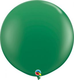 36 inch Qualatex Green Latex Balloons - 2 count