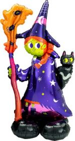 55 inch Anagram Scary Witch Airloonz Foil Balloon - Pkg