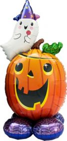 56 inch Anagram Pumpkin Ghost Airloonz Foil Balloon - Pkg
