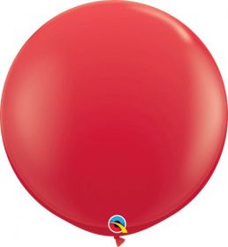 36 inch Qualatex Red Latex Balloons - 2 count