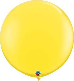 36 inch Qualatex Yellow Latex Balloons - 2 count