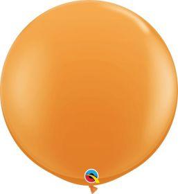 36 inch Qualatex Orange Latex Balloons - 2 count