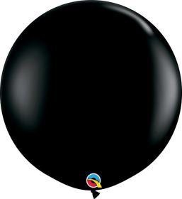 36 inch Qualatex Onyx Black Latex Balloons - 2 count