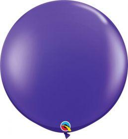 36 inch Qualatex Quartz Purple Latex Balloons - 2 count