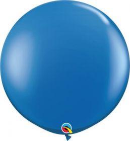 36 inch Qualatex Sapphire Blue Latex Balloons - 2 count