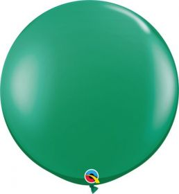 36 inch Qualatex Emerald Green Latex Balloons - 2 count