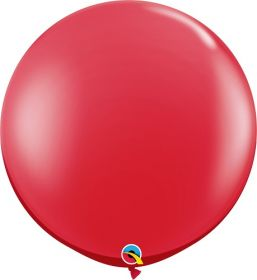 36 inch Qualatex Ruby Red Latex Balloons - 2 count