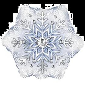 18 inch Prismatic Foil Mylar Snowflake Shape Balloon