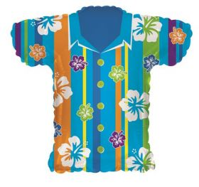 23 inch Blue Hawaiian Shirt Shape Foil Mylar Balloon