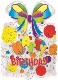 26 inch Happy Birthday Gift with Balloons Shape Balloon - Flat
