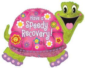 31 inch Speedy Recovery Turtle Shape Get Well Foil Mylar Balloon