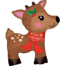 38 inch CTI Christmas Reindeer Shape Foil Balloon