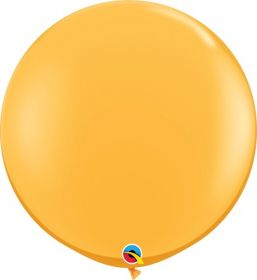 36 inch Qualatex Goldenrod Latex Balloons - 2 count