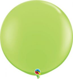 36 inch Qualatex Lime Green Latex Balloons - 2 count