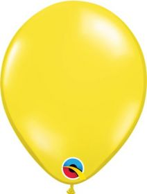 9 inch Qualatex Citrine Yellow Latex Balloons - 100 count