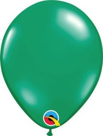 9 inch Emerald Green Latex Balloons - 100 count