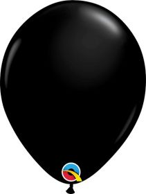 16 inch Qualatex Onyx Black Latex Balloons - 50 count