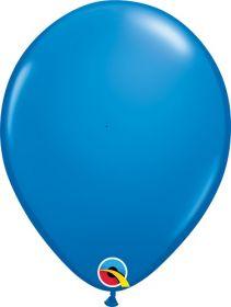 16 inch Qualatex Dark Blue Latex Balloons - 50 count