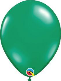 5 inch Qualatex Emerald Green Latex Balloons - 100 count