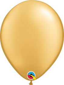 11 inch Qualatex Gold Latex Balloons - 100 count