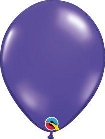 11 inch Qualatex Quartz Purple Latex Balloons - 100 count