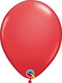 5 inch Qualatex Red Latex Balloons - 100 count