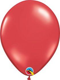 11 inch Qualatex Ruby Red Latex Balloons - 100 count