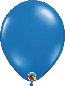 16 inch Qualatex Sapphire Blue Latex Balloons - 50 count
