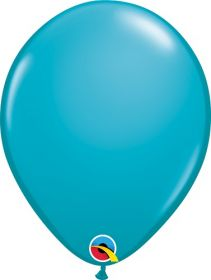 16 inch Qualatex Tropical Teal Latex Balloons - 50 count