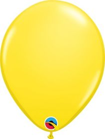 11 inch Qualatex Yellow Latex Balloons - 100 count