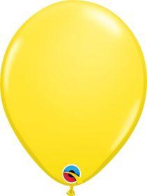 5 inch Qualatex Yellow Latex Balloons - 100 count