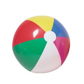 48 inch Traditional 6 Color Beach Balls (34 inch inflated diameter)