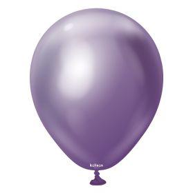 5 inch Kalisan Violet Mirror Chrome Latex Balloons - 100ct