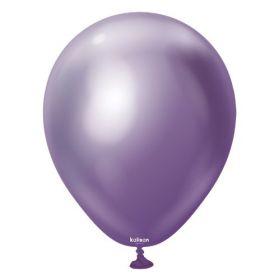 12 inch Kalisan Violet Mirror Chrome Latex Balloons - 50 ct