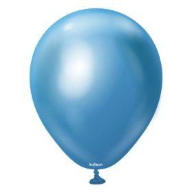 12 inch Kalisan Blue Mirror Chrome Latex Balloons - 50 ct
