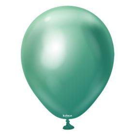 12 inch Kalisan Green Mirror Chrome Latex Balloons - 100 ct