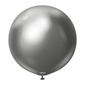 36 inch Kalisan Space Grey Mirror Chrome Latex Balloons - 2 ct