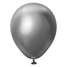 5 inch Kalisan Space Grey Mirror Chrome Latex Balloons - 50ct
