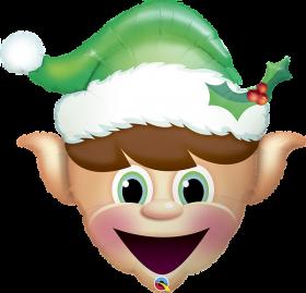35 inch Qualatex Christmas Elf Foil Balloon - Packaged