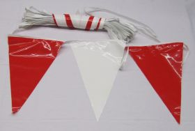 105 Foot Red & White Pennant String