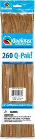 260Q Qualatex Q-Pak Mocha Brown Latex Balloons - 50 count